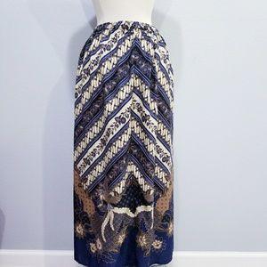 Vintage 70's 80's hippie boho print skirt